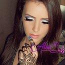 Purple White Black Makeup