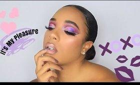 Its My Pleasure Palette by Colourpop   Gradient Glitter Cut Crease   Leiydbeauty