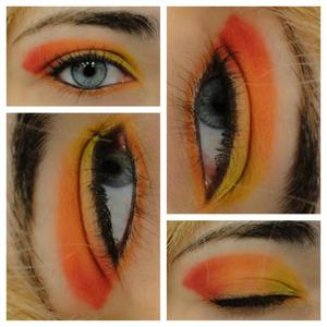 my take on a phoenix look w/ my first Sugarpill pallet!