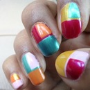 Tropical Color Block: Nails Of The Day