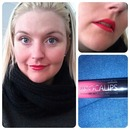 Bold pink lips :)