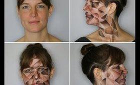 Origami   Crumpled Paper   Halloween Makeup Tutorial