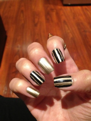 Gold undertone with black stripes