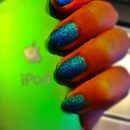 Green and Blue Glitter Gradient