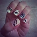 My dreamcatcher nails :)