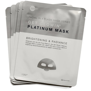 Skin Inc Supplement Bar Facial In-A-Flash Get Glowin Platinum Mask
