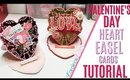 Valentines Day Easel Card, Heart Stand Up Card Tutorial, DAY 9 of 14 Days of Crafty Valentines Day
