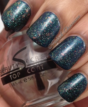 OPI Russian Navy, Girly Bits Cosmic Ocean, and Cult Nails Toxic Seaweed http://www.polish-obsession.com/2013/04/twinsie-tuesday-fictional-animal-print.html