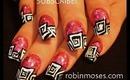 JERSEYLICIOUS inspired nails: robin moses nail art design tutorial