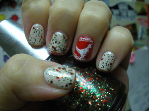 OPI Let them eat rice cake, Orly Monroe's Red and China Glaze Party Hearty