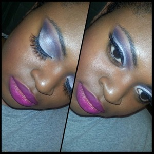 Look created using the coastal scents 120 5th edition palette, mac's flat out fabulous lipstick, mac's studio fix fluid foundation, and red cherry's #wsp eyelashes.