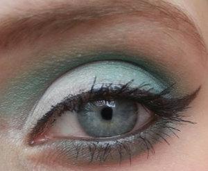 Just because I am sad over the fact that Studio Ghibli have ceased production.. for now (apparently) http://beautistique.blogspot.co.uk/2014/08/eye-look-its-so-sad-i-painted-my-eye.html  What I used:  -Dark Heart Designs eyeshadow in  Elizabeth (white) -Dark Heart Designs eyeshadow in Absinthe (green) -MUA Matte Black eyeshadow  -Ebay Gel Liner -Gosh Amaze'n'Length Mascara -MUA Black eye pencil -MUA Brown eye Pencil (eyebrow)