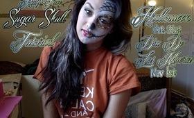 Half Face Sugar Skull Tutorial