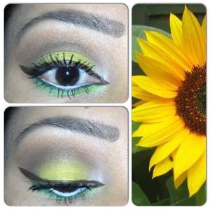 Sunflower inspired eyeshadow