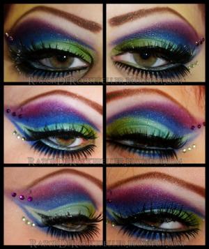 Eye look using Sugarpill's Heartbreaker palette.