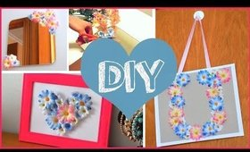 DIY SPRING ROOM DECOR ❤ Cheap & cute projects using fake flowers!!
