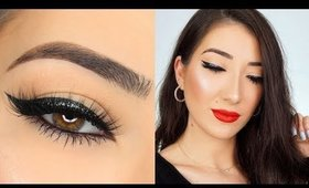 DRUGSTORE HOLIDAY GLAM MAKEUP TUTORIAL