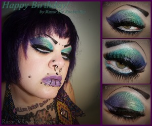 Just some makeup I did for my birthday!  Check out my blog for more: http://razorderockefeller.blogspot.com