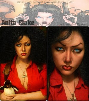 I have read almost all of the Anita Blake, Vampire Hunter novels. So...I attempted a look based on the main character! :D