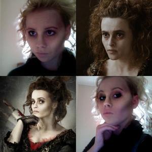 halloween makeup for Ms Lovett!