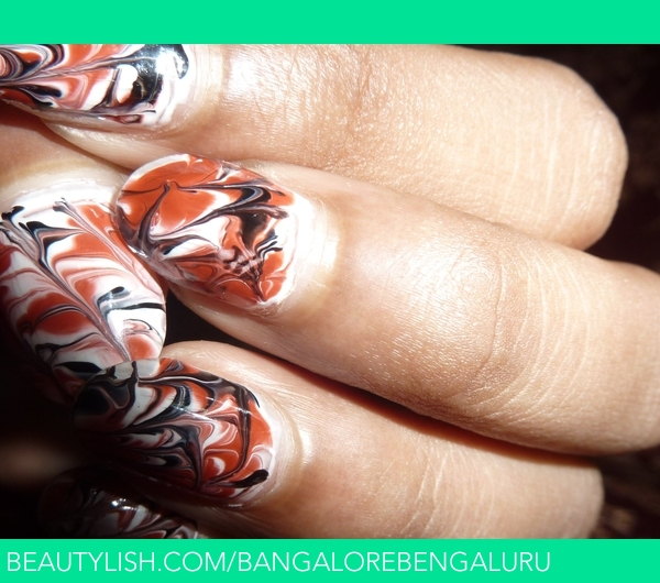 Marble Nail Art Effect Without Water Life Thoughts Cs