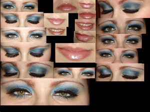 Photo collage of my Bluish Purple Holiday Look.