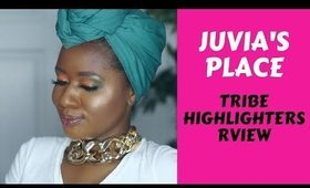 Juvia's Place Tribe Collection Highlighters Review on Dark Skin