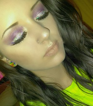 this is my first look created with the Jaclyn hill palette and nyx glitter