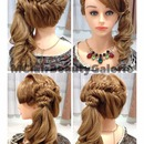 Sweet Bridal Braid Ponytail