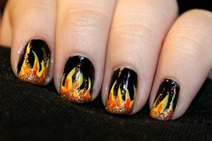 fiery hot nails