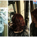 Hair color and hair cut by Christy Farabaugh
