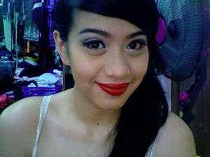 Gold + Red Lips