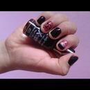 back n' pink fall nails