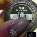 China Glaze: Galactic Gray + ArtClub Nail Art Lux Silver Decals
