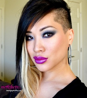 A super sexy smoky eye from Nymphette, featuring our Vixen lashes!