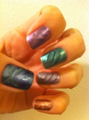 my first time trying LCN Magnetic Nail polish.