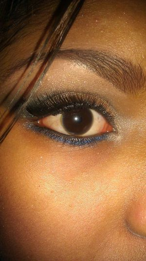 I did this look for my stepmom. She was going to a party where the theme was Denim and Diamonds