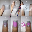 Heart Tape Nails