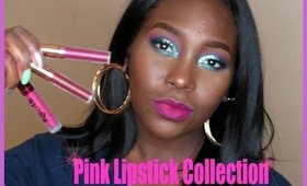 Pink lipstick collection Part 1