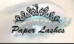 Paper lashes makeup