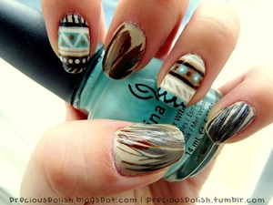 real feathers and tribal
