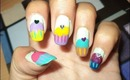 Cute Colorful Cupcake Nails Tutorial