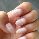Gel nail art ! Marble imitation..  <3