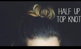 Half Up Top Knot | Medium/Short Hair Tutorial | Brittany Adam