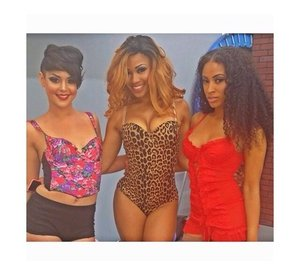 Two models on the RIGHT makeup done by me!!! On set of a video shoot! Arent they GORGEOUS??
