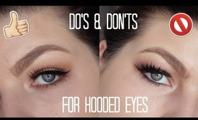 HOODED EYES MAKEUP | DO'S AND DON'TS