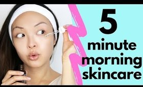 5 MINUTE Skincare Routine For Beginners!