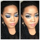 Dramatic Blue Smokey Eye