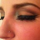 Colorful Eyes With False Lashes
