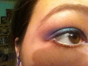 My attempted version of Little Mermaid (I think someone has done this look but forgotten who)